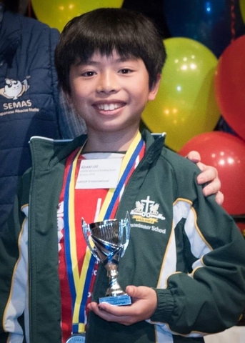 Student With Award At The Annual Abacus Mental Arithmetic Championship