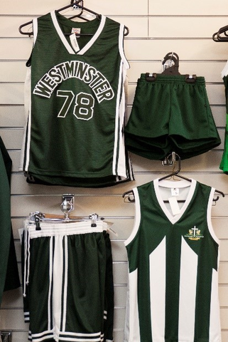 Basketball-Uniforms-hanging-on-a-wall